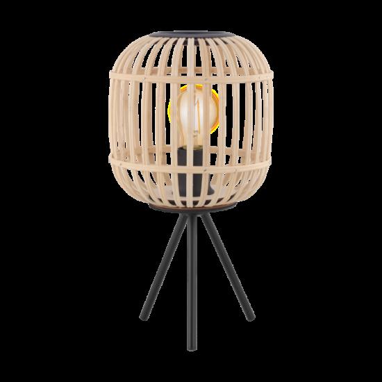 Asztali lámpa E27 1xMax.28W fekete/fa Bordesley - Eglo - 43218