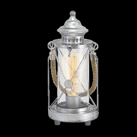 Asztali lámpa E27 60W ezüst-antik/üveg Vintage EGLO - 49284