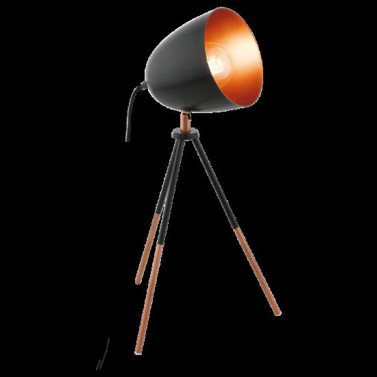 Asztali lámpa E27 1X60W 44cm IP20 fekete/réz - Chester EGLO - 49385