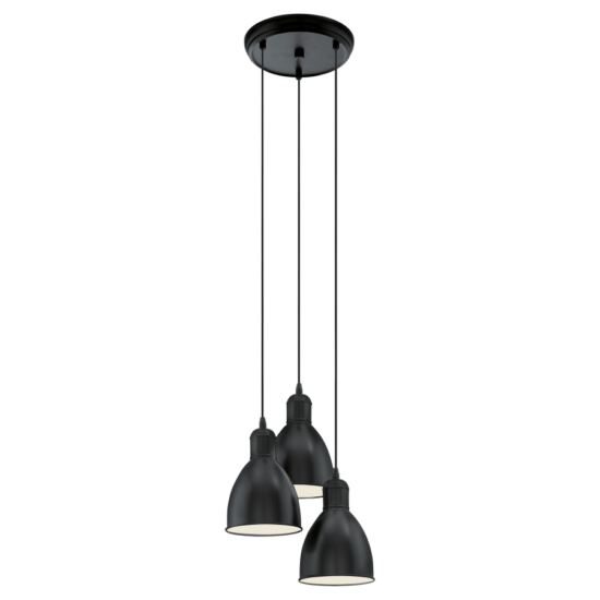 Függeszték E27 3x60W fekete Priddy EGLO - 49465