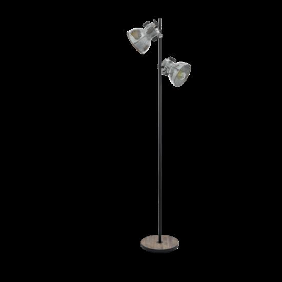 Állólámpa E27-es max.2x40W barna-patina, fekete-used look zinc 1580mmX270mm - BARNSTAPLE - Eglo - 49722