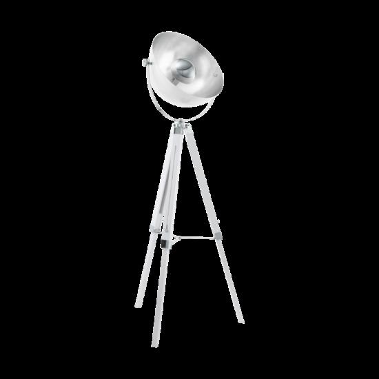 Állólámpa 1X60W fa, acél white, chrome, silver COVALEDA - Eglo - 49877
