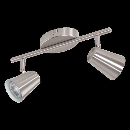 Szpot lámpa LED-es GU10 2X3,3W 28,5cm matt nikkel - Travale2 EGLO - 75142
