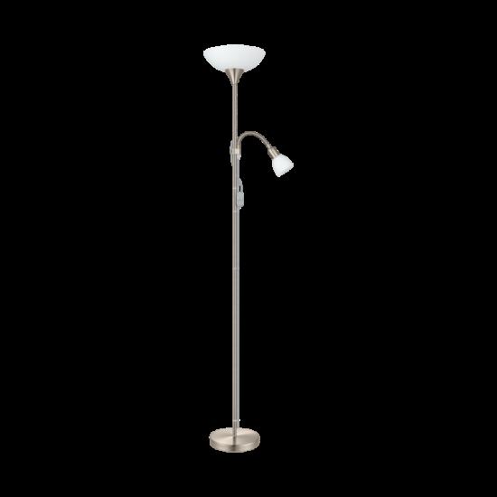 Állólámpa 1x60W E27+1x25W E14 mag:178cm kapcsolós matt nikkel UP 2 EGLO - 82842