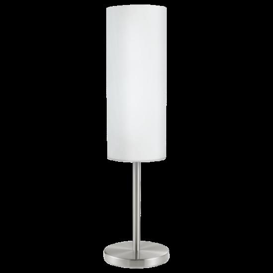 Asztali lámpa 1x60W E27 mag:46cm matt nikkel fehér Troy 3 EGLO - 85981