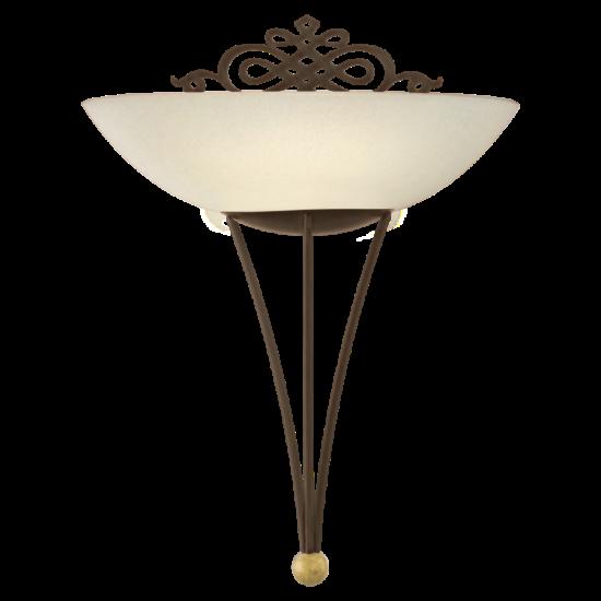 Fali lámpa 1x60W E27 30x33,5cm antik barna/dekor Mestre EGLO - 86715