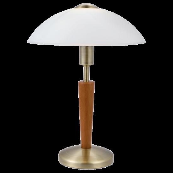 Asztali lámpa 1x60W E14 mag:35cm bronz/dió érintőkapcs. Solo 1 EGLO - 87256
