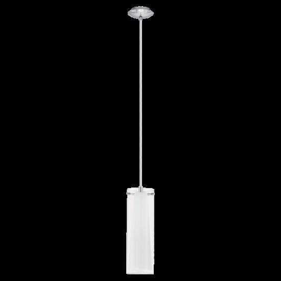 Függeszték E27 1x60W króm/fehér Pinto EGLO - 89832