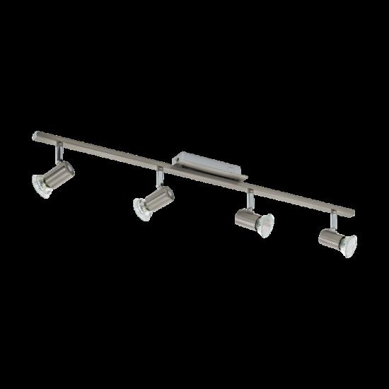 Fali/mennyezeti lámpa GU10 LED 4x5W 78cm matt nikkel/króm Rottelo EGLO - 90917