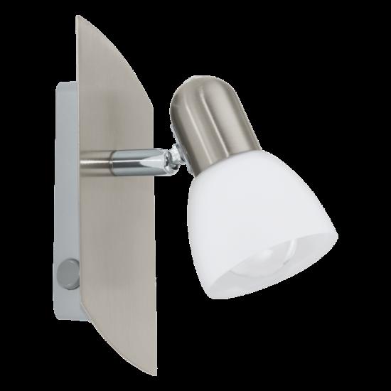 Fali lámpa 1x40W E14 ↕19cm matt nikkel Enea EGLO - 90982