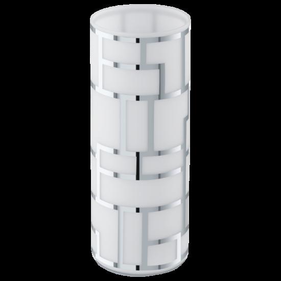 Asztali lámpa E27 1x60W fehér/króm dekor Bayman EGLO - 91971