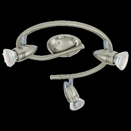 LED-es G-forma lámpa GU10 3x3W matt nikkel/króm Magnum-LED EGLO - 92643