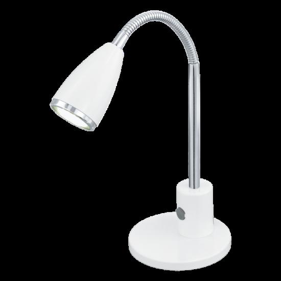 LED-es asztali lámpa GU10 3W acél fehér/króm m:32cm Fox EGLO - 92872