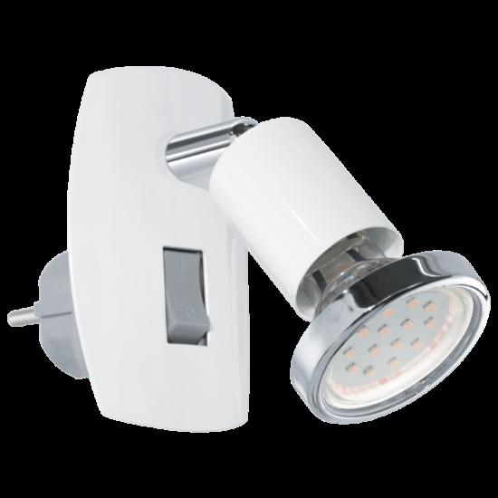 LED-es dugaljszpot 3W acél/króm/fehér 7x10cm fix Mini 4 EGLO - 92925