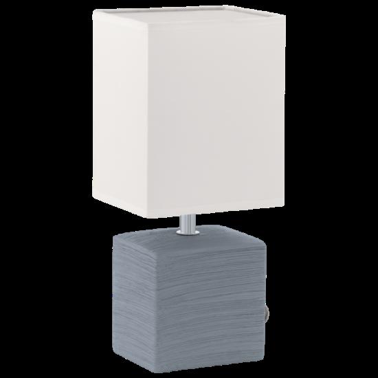 Asztali lámpa E14 40W kerámia/szürke textil/fehér bura 13x13x30cm Mataro EGLO - 93044