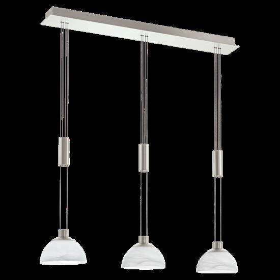 LED-es függeszték 3x6W matt nikkel/alabástrom egyenes 17,5x88,5cm Montefio EGLO - 93468