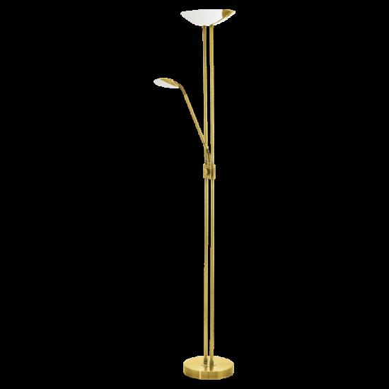 Led-es álló lámpa 20W/2,5W/2,5W olvasókarral m:180cm sz:36cm réz színű BAYA LED EGLO - 93877