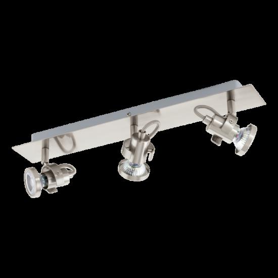 LED-es fali/mennyezeti lámpa GU10 3x3,3W matt nikkel Tukon3 EGLO - 94146