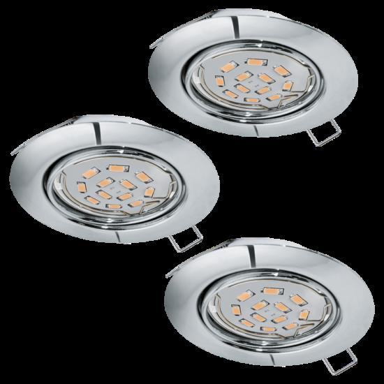LED-es beépíthető lámpa GU10 3x5W króm Peneto EGLO - 94407