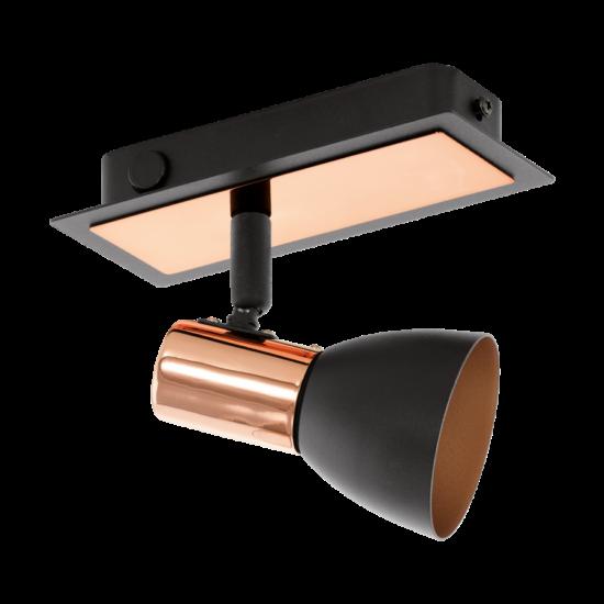 LED-es fali lámpa GU10 1x3,3W fekete/réz Barnham EGLO - 94584