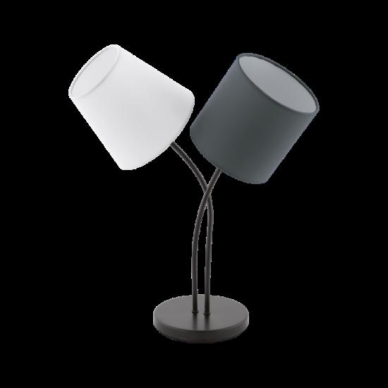 Asztali lámpa E14 2X40W IP20 fehér/antracit - Almeida EGLO - 95194