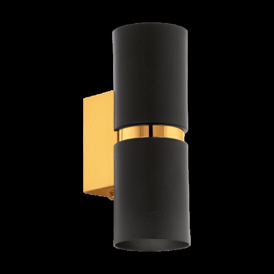 LED-es fali lámpa GU10 2X4W fekete/arany  PASSA EGLO - 95364