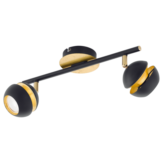 LED-es fali/mennyezeti lámpa GU10 2X4W fekete/arany  NOCITO EGLO - 95483