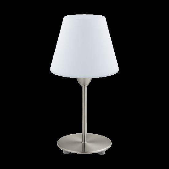Asztali lámpa E14 1X60W IP20 mattnikkel/fehér - Damasco1 EGLO - 95785