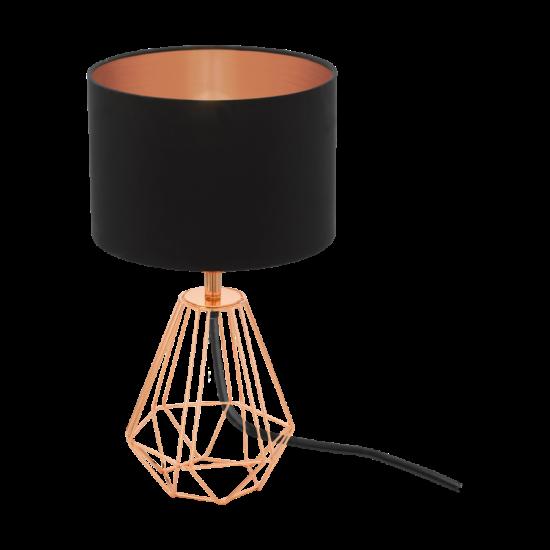 Asztali lámpa E14 1X60W IP20 vörösréz/fekete - Carlton2 EGLO - 95787