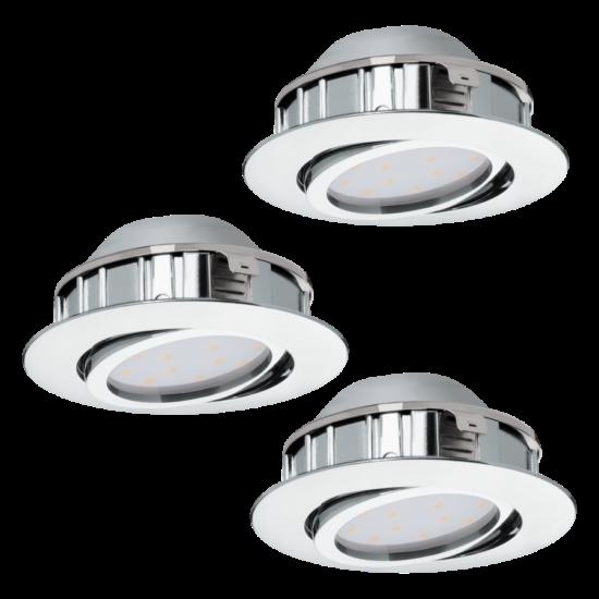 LED-es beépíthető lámpa Integrált Led 3X6W króm  PINEDA EGLO - 95852