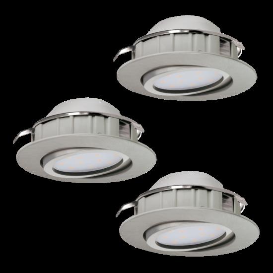 LED-es beépíthető lámpa Integrált Led 3X6W mattnikkel  PINEDA EGLO - 95853