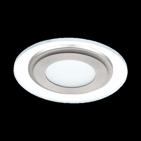 LED-es beépíthető lámpa Integrált Led 1X12W fehér/mattnikkel  PINEDA EGLO - 95932