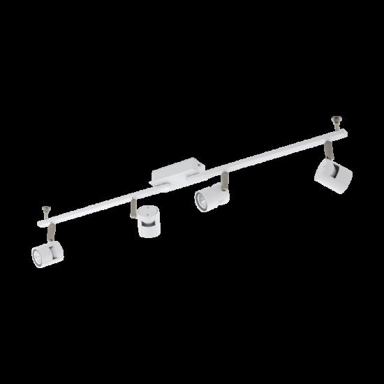 Fali/mennyezeti lámpa LED GU10 4x5W fehér, matt nikkel 980mmX70mm - VERGIANO - Eglo - 97509