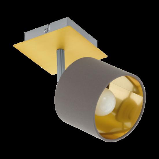 Fali/mennyezeti lámpa E14-es max.1x10W csiszolt réz, matt nikkel-cappuccino, arany 110mmX110mm - VALBIANO - Eglo - 97536