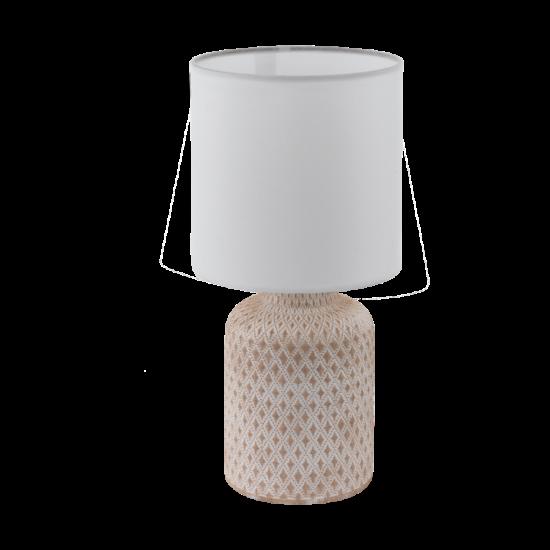 Asztali lámpa E14-es max.1x40W krém-fehér-fehér 320mmX150mm - BELLARIVA - Eglo - 97773