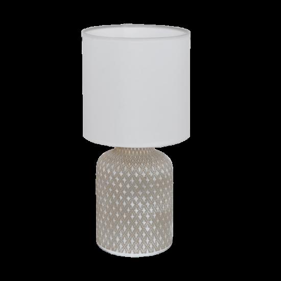 Asztali lámpa E14-es max.1x40W szürke-fehér 320mmX150mm - BELLARIVA - Eglo - 97774