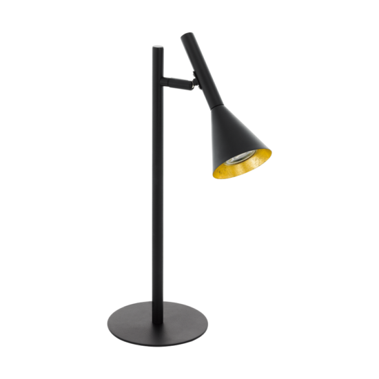 Asztali lámpa LED GU10 1x5W fekete, arany 235mmX150mmX445mmX150mm - CORTADERAS - Eglo - 97805