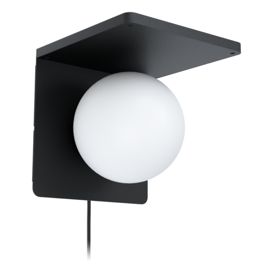 Fali lámpa E14 max.40W fekete/fehér Qi töltős Ciglie - Eglo - 98265