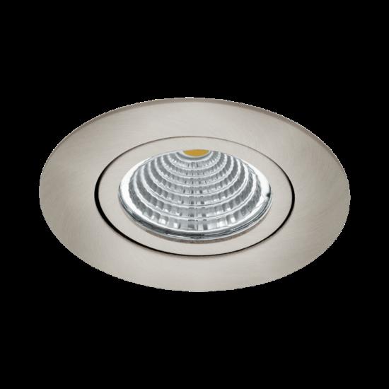 LED-es beépíthető lámpa 6W 2700K 380lm 8,8cm állítható nikkel Saliceto - Eglo - 98303