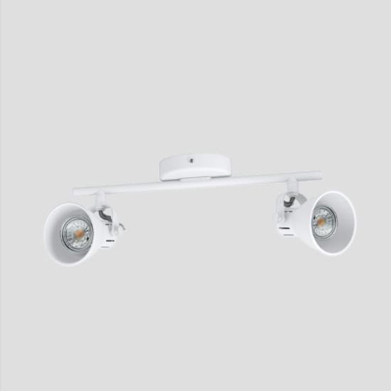 LED-es fali/mennyezeti spot lámpa GU10 2x3,3W 3000K 480lm fehér Seras 1 - Eglo - 98394