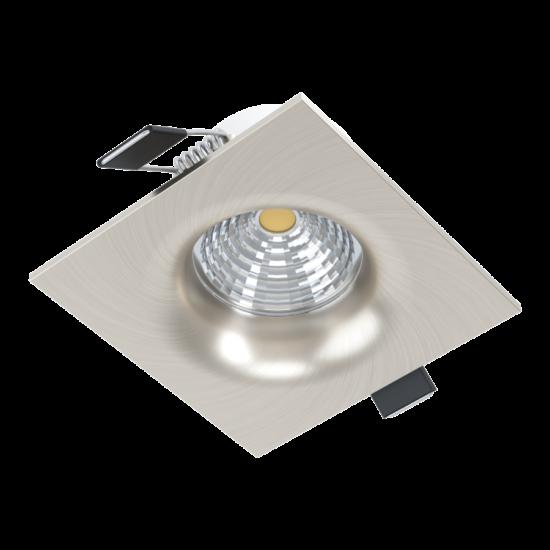LED-es beépíthető lámpa 6W 2700K 380lm 8,8cm fix nikkel SALICETO - Eglo - 98472