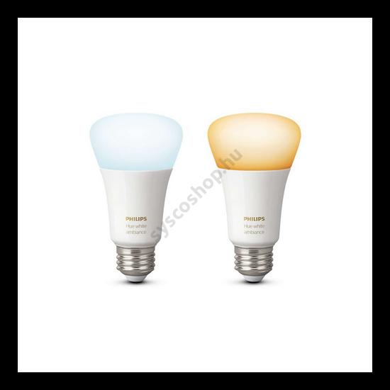 LED E27 2 db 8.5W A60 EU BT 2200-6500K - Hue WA - Philips - 929002216904