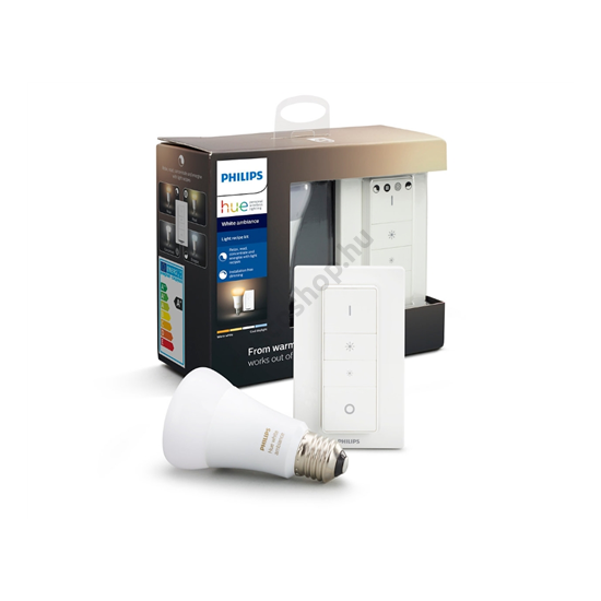 Fényerőszabályzó készlet - LED E27 8.5W A19 2200-6500K + fényerőszabályzó - HUE WA - Philips - 929002216902