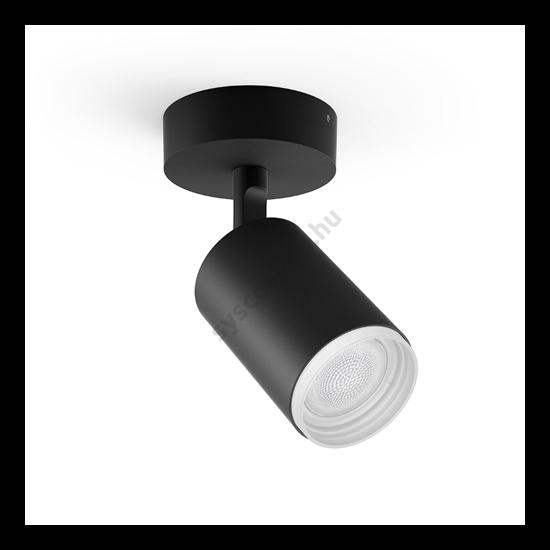 Szpotlámpa 240V fekete + 1db 5.7W GU10 WACA égő - Hue Fugato - Philips - 915005761201