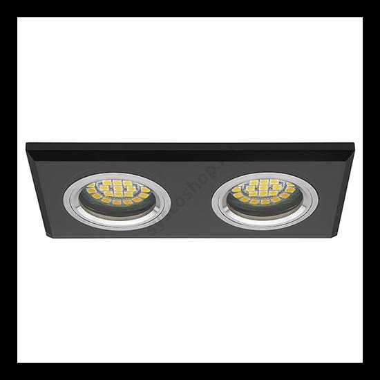 Lámpatest álmennyezetbe illeszhető MR16 keret MORTA fix, dupla fekete CT-DSL250 Kanlux - 19360