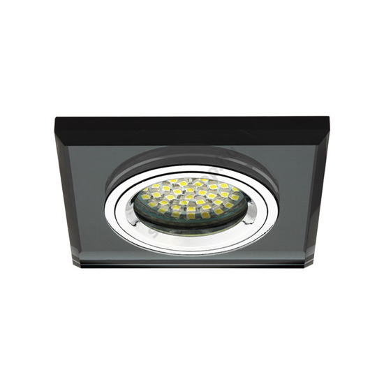 Lámpatest álmennyezetbe illeszhető MR16 keret MORTA fix fekete CT-DSL50 Kanlux - 18510