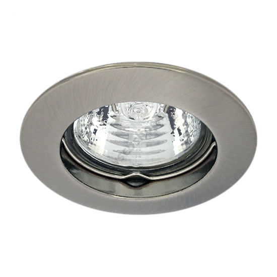 Lámpatest álmennyezetbe illeszhető alu MR16 keret VIDI fix matt króm CTC-5514 Kanlux - 2793