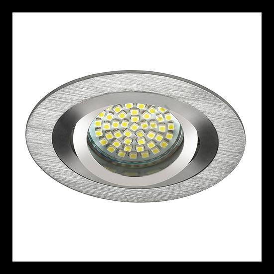 Lámpatest álmennyezetbe illeszhető alu MR16 keret SEIDY billenő aluminium CT-DTO50 Kanlux - 18280