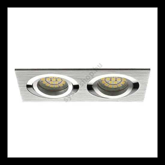 Lámpatest álmennyezetbe illeszhető alu MR16 keret SEIDY billenő alumínium CT-DTL250 Kanlux - 18282