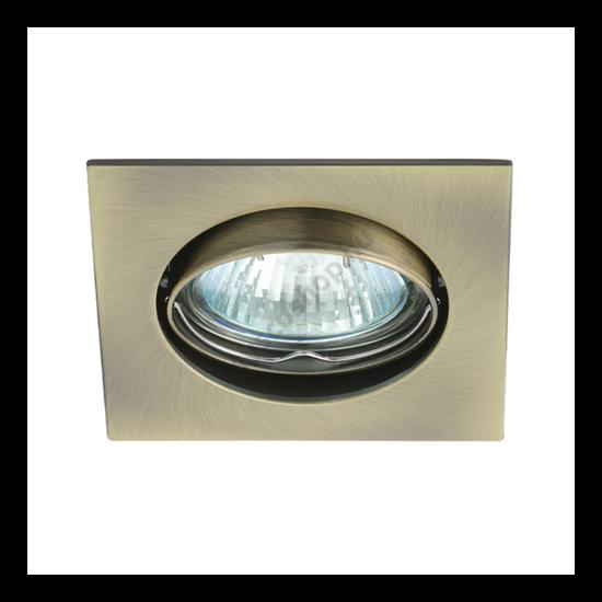 Lámpatest álmennyezetbe illeszhető alu MR16 keret NAVI billenő patinált réz CTX-DT10 Kanlux - 2554